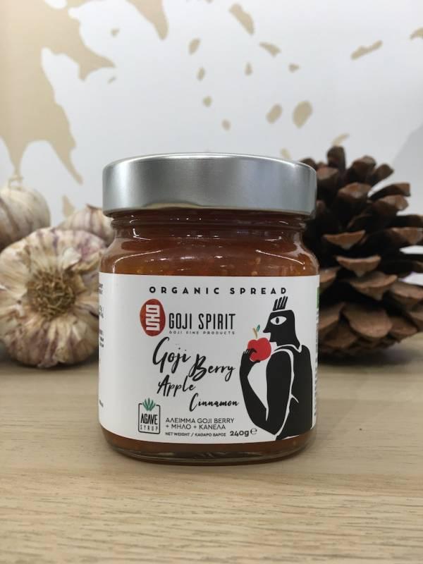 Confiture Goji & Pomme Canelle Bio 240 G Goji Spirit Bocale 1 Ef Zin Www.ef Zin.fr Alimentation Spécialités Grecque
