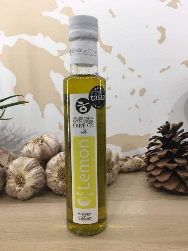 Huile D'olive Infusée Citron 250 Ml Delicious Crete Dorica A Ef Zin Www.ef Zin.fr Alimentation Spécialités Grecque