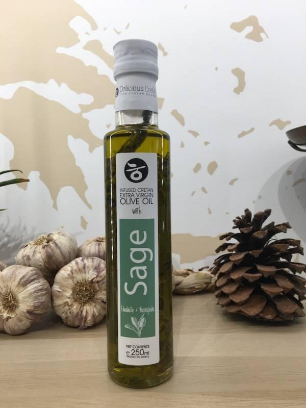 Huile D'olive Infusée Sauge 250 Ml Delicious Crete Dorica A Ef Zin Www.ef Zin.fr Alimentation Spécialités Grecque
