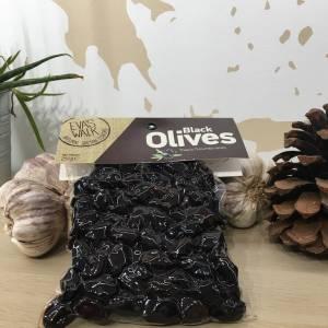 Olives Throuba Thasos Noir 250 G Eva's Walk Vacuum 1 Ef Zin Www.ef Zin.fr Alimentation Spécialités Grecque