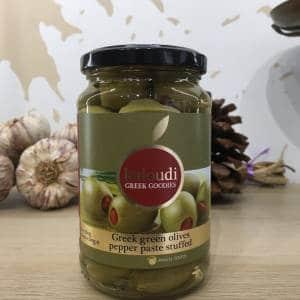 Olives Vertes Farcie Aux Poivrons 360 g KALOUDI