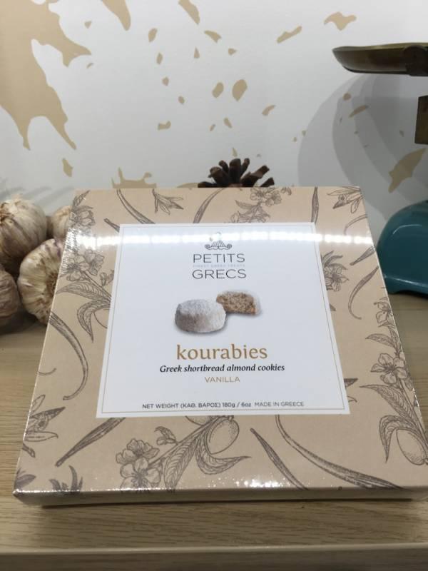 Plaisir Sucré Vanille Kourabies 180 G Petits Grecs Boite 2 Ef Zin Www.ef Zin.fr Alimentation Spécialités Grecque