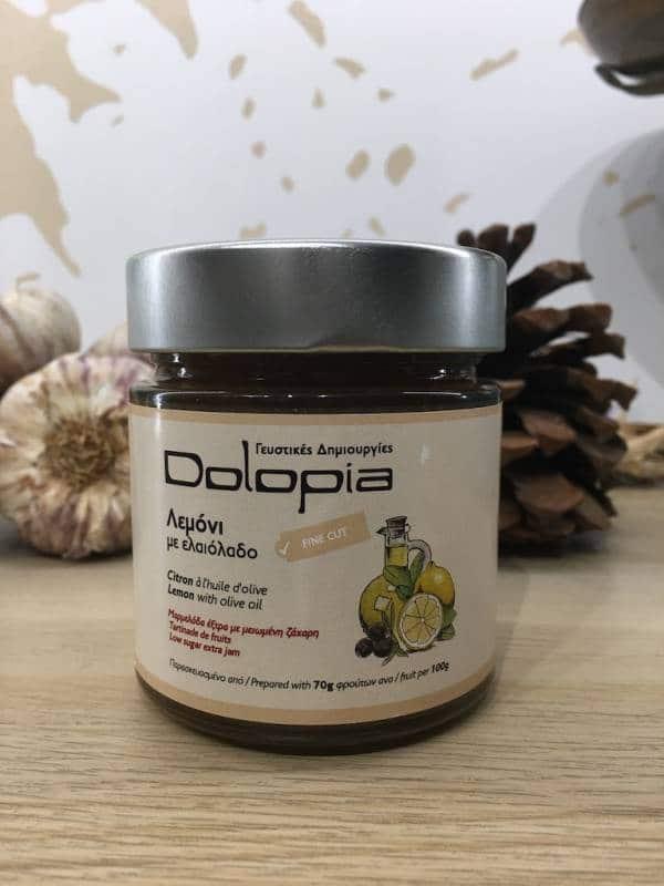 Confiture Citron & Huile D'olive Moins De Sucre 280 G Dolopia Bocale 1 Ef Zin Www.ef Zin.fr Alimentation Spécialités Grecque