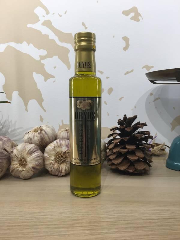 Huile D'olive Infusée Truffe Blanc 250 Ml Dryas Dorica 1 Ef Zin Www.ef Zin.fr Alimentation Spécialités Grecque