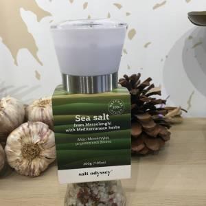 Moulin à Sel Ail & Med Herbes 200 G Salt Odyssey 6 Ef Zin Www.ef Zin.fr Alimentation Spécialités Grecque