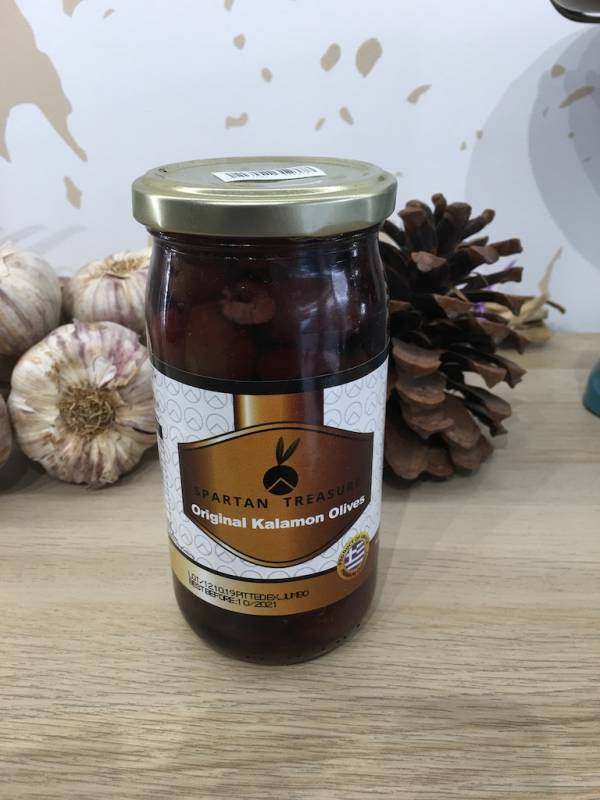 Olives Kalamata Jumbo Noir Dénoyautées 180 G Spartan Treasure Bocale 2 Ef Zin Www.ef Zin.fr Alimentation Spécialités Grecque