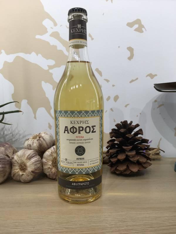 Retsina Afros Blanc 750 Ml Kechris Bouteille 1 Ef Zin Www.ef Zin.fr Alimentation Spécialités Grecque