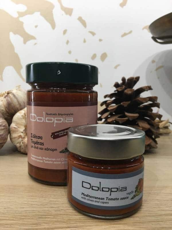 Sauce Tomate Olives & Câpres Vegan 95 & 350 G Dolopia Bocale Ef Zin Www.ef Zin.fr Alimentation Spécialités Grecque