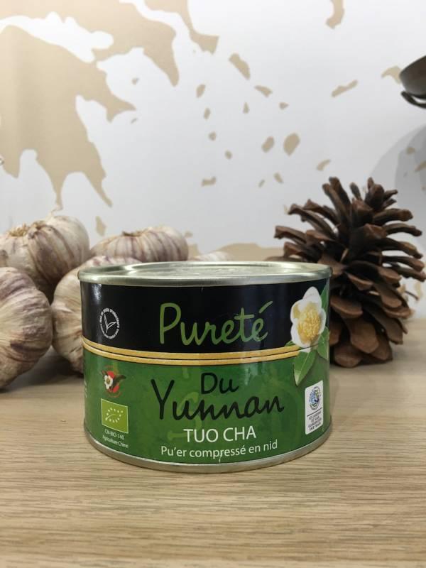 Thé Pureté Du Yunnan Tuocha Verte Bio 100 G GaÏa Boite 1 Ef Zin Www.ef Zin.fr