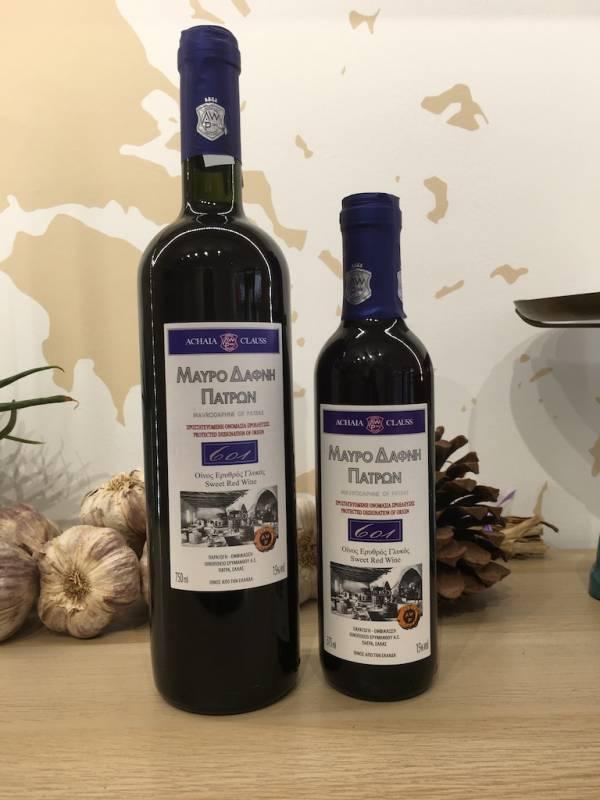 Vin Aperitif Rouge 375 & 750 Ml Mavrodaphni Bouteille Ef Zin Www.ef Zin.fr Alimentation Spécialités Grecque